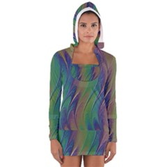 Texture Abstract Background Women s Long Sleeve Hooded T-shirt