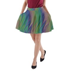 Texture Abstract Background A-Line Pocket Skirt