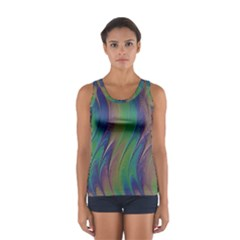 Texture Abstract Background Women s Sport Tank Top