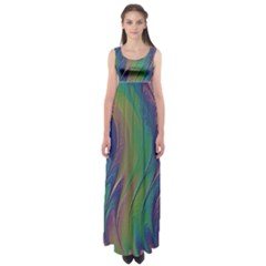 Texture Abstract Background Empire Waist Maxi Dress