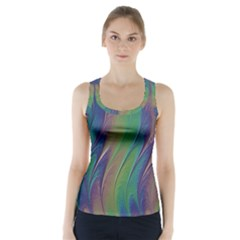 Texture Abstract Background Racer Back Sports Top