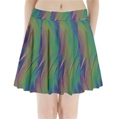 Texture Abstract Background Pleated Mini Skirt
