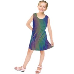 Texture Abstract Background Kids  Tunic Dress