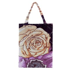 Texture Flower Pattern Fabric Design Classic Tote Bag
