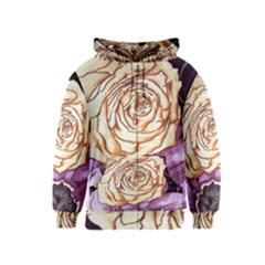 Texture Flower Pattern Fabric Design Kids  Zipper Hoodie