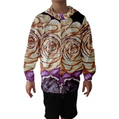 Texture Flower Pattern Fabric Design Hooded Wind Breaker (kids)