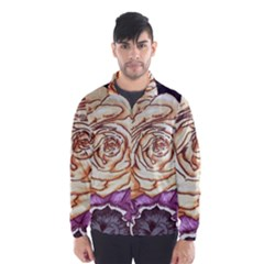 Texture Flower Pattern Fabric Design Wind Breaker (men)