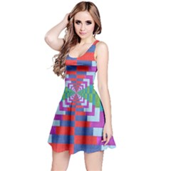 Texture Fabric Textile Jute Maze Reversible Sleeveless Dress