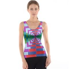 Texture Fabric Textile Jute Maze Tank Top