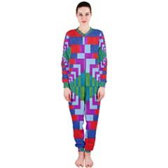 Texture Fabric Textile Jute Maze OnePiece Jumpsuit (Ladies)