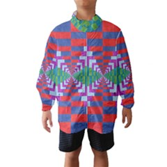 Texture Fabric Textile Jute Maze Wind Breaker (Kids)