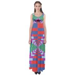 Texture Fabric Textile Jute Maze Empire Waist Maxi Dress