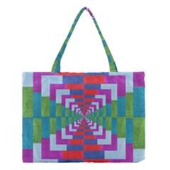 Texture Fabric Textile Jute Maze Medium Tote Bag