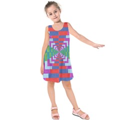 Texture Fabric Textile Jute Maze Kids  Sleeveless Dress