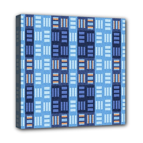 Textile Structure Texture Grid Mini Canvas 8  x 8