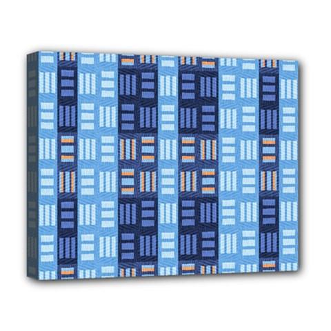 Textile Structure Texture Grid Deluxe Canvas 20  X 16