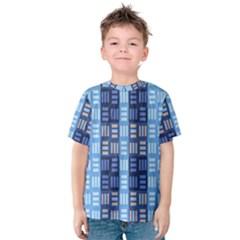 Textile Structure Texture Grid Kids  Cotton Tee
