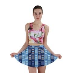 Textile Structure Texture Grid Mini Skirt