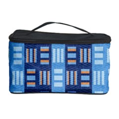Textile Structure Texture Grid Cosmetic Storage Case