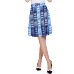 Textile Structure Texture Grid A-Line Skirt