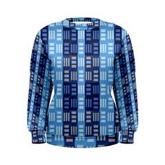 Textile Structure Texture Grid Women s Sweatshirt