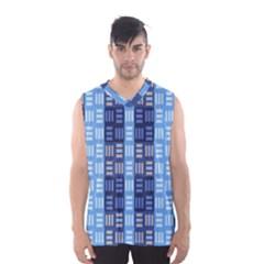 Textile Structure Texture Grid Men s Basketball Tank Top