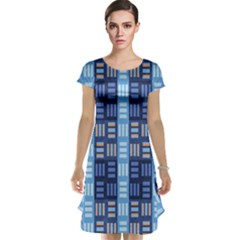 Textile Structure Texture Grid Cap Sleeve Nightdress