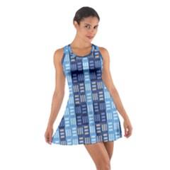 Textile Structure Texture Grid Cotton Racerback Dress