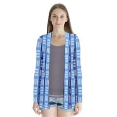 Textile Structure Texture Grid Cardigans