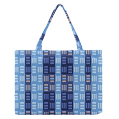 Textile Structure Texture Grid Medium Zipper Tote Bag
