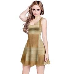 Texture Surface Beige Brown Tan Reversible Sleeveless Dress