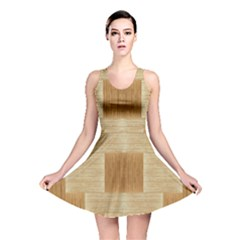 Texture Surface Beige Brown Tan Reversible Skater Dress