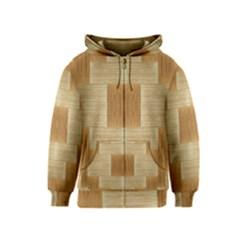 Texture Surface Beige Brown Tan Kids  Zipper Hoodie