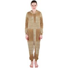 Texture Surface Beige Brown Tan Hooded Jumpsuit (ladies)