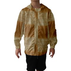 Texture Surface Beige Brown Tan Hooded Wind Breaker (Kids)