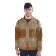 Texture Surface Beige Brown Tan Wind Breaker (Men)