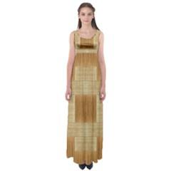 Texture Surface Beige Brown Tan Empire Waist Maxi Dress