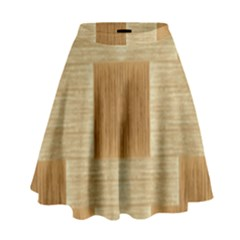Texture Surface Beige Brown Tan High Waist Skirt