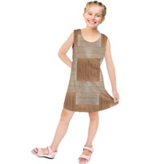 Texture Surface Beige Brown Tan Kids  Tunic Dress
