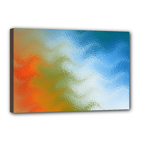 Texture Glass Colors Rainbow Canvas 18  X 12