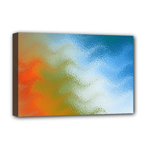 Texture Glass Colors Rainbow Deluxe Canvas 18  x 12