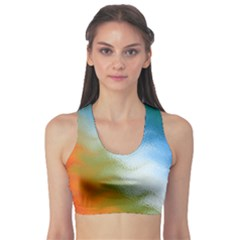 Texture Glass Colors Rainbow Sports Bra