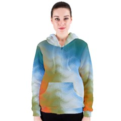 Texture Glass Colors Rainbow Women s Zipper Hoodie