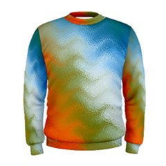 Texture Glass Colors Rainbow Men s Sweatshirt