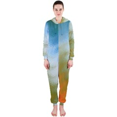 Texture Glass Colors Rainbow Hooded Jumpsuit (ladies)