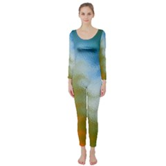 Texture Glass Colors Rainbow Long Sleeve Catsuit