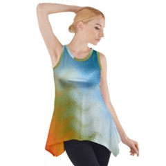 Texture Glass Colors Rainbow Side Drop Tank Tunic