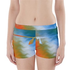 Texture Glass Colors Rainbow Boyleg Bikini Wrap Bottoms