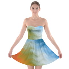 Texture Glass Colors Rainbow Strapless Bra Top Dress