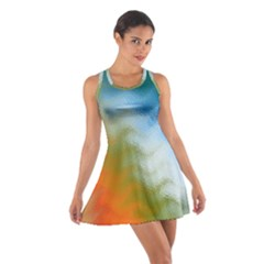 Texture Glass Colors Rainbow Cotton Racerback Dress